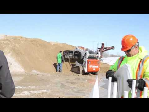 Sand bagging machine demonstrated for RM Springfield