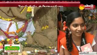 Eco-friendly Ganesha Making in Anand nagar    Hyderabad    Sakshi TV