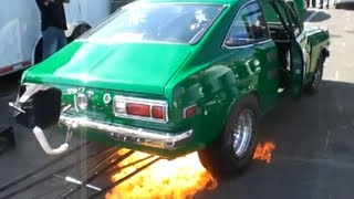 Loud Rotary Flames out in pits!