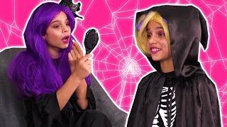 Halloween Princess Routine 🎃 Costumes & More - Halloween Princesses In Real Life | Kiddyzuzaa