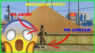 GTA 5 - HOW TO CREATE A RARE MODDED OUTFIT (NO ANKLES + NO ARMS) After Patch 1.34