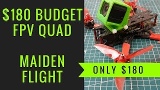 Best Budget FPV Drone Build Maiden Flight // Realacc Real4, Eagle Power, Starf4s