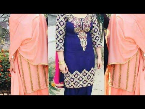 Handwork designs for punjabi partywear suits
