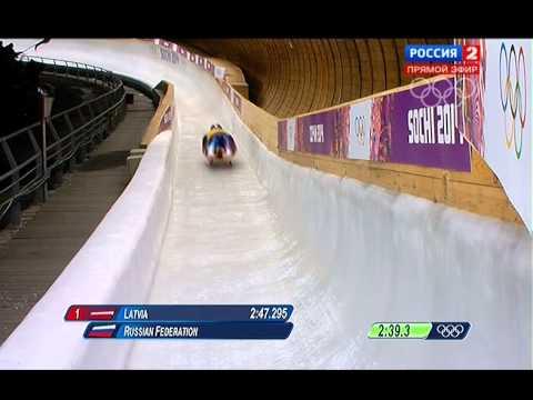 Олимпийские Игры 2014  - Санный спорт  Эстафета