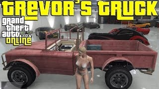 GTA 5 Online - How to get Trevor's Truck and Save it in your Garage - GTA V Online