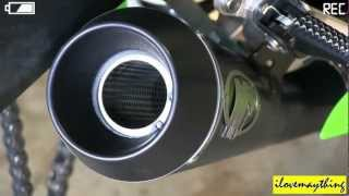 2013 Kawasaki NINJA 636 ZX6R with M4 GP style exhaust - Start-Up, idLe & Revving