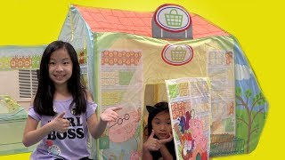 I MAILED MYSELF to Ryan ToysReview and it WORKED! Pretend Play Peppa Pig Toy Store Fun TV