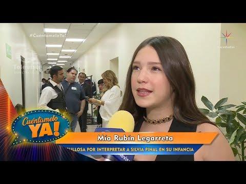 Mía Rubín Legarreta, feliz por su participación en Silvia Pinal la serie   Cuéntamelo YA!