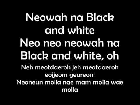 G.na ~ Black & White Lyrics video