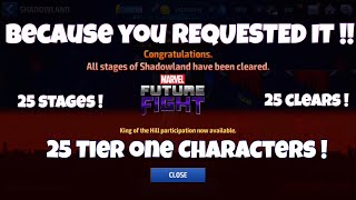 HOW TO BEAT SHADOWLAND WITH ONLY TIER 1 CHARACTERS!! | Marvel Future Fight