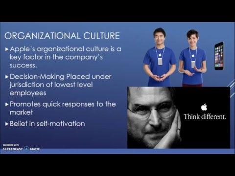 organizational culture at apple inc
