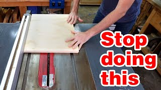 6 common things you might be doing wrong with your table saw