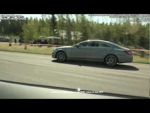 Mercedes CLS63 BiTurbo vs Porsche Panamera Turbo S x 2 races