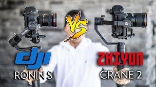 DJI Ronin S vs. Zhiyun Crane 2