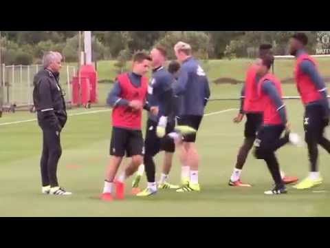 First glimpse of Mourinho's Manchester United Training