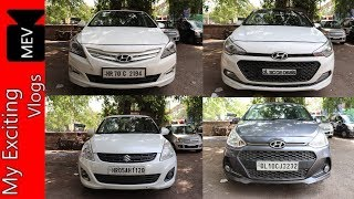 HATCHBACKS & SEDANS FOR SALE IN DELHI ( FULL CAR REVIEW, PRICE) FINANCE AVAILABLE ON ALL CARS ..