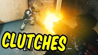 Clutches and Almost-Clutches - Rainbow Six Siege Gameplay