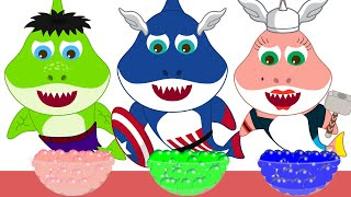Colors with Baby Shark Song | Disney Marvel Avengers Baby Shark Songs Nursery Rhymes for Children