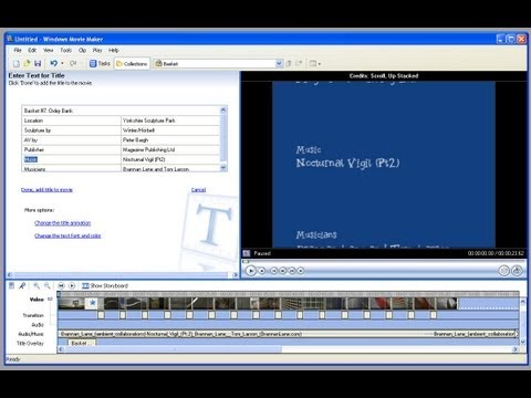 How to make picture-in-picture (P.I.P) in windows movie maker