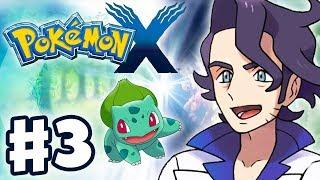 Pokemon X and Y - Gameplay Walkthrough Part 3 - Professor Sycamore Battle (Nintendo 3DS)