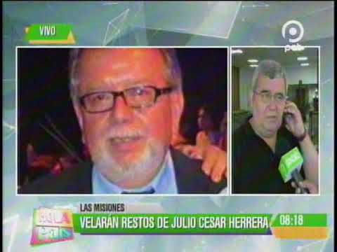 Velan los restos de Julio Cesar Herrera