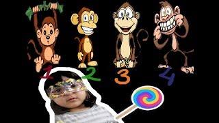 Five little Monkeys Song -Babies Toddlers Kids Songs- Nursery Rhymes - Baby Learn ABC