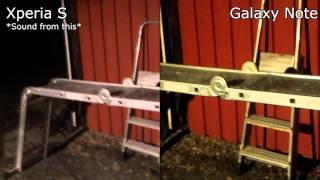 Sony Xperia S vs. Samsung Galaxy Note Camera Test Night 1080p Video