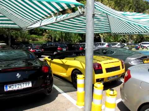 exclusive cars at monte carlo beach club monaco youtube. Black Bedroom Furniture Sets. Home Design Ideas