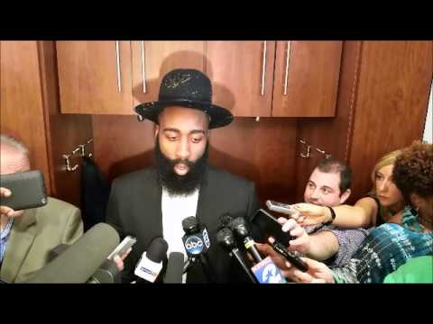 James Harden after beating LeBron James, Cavaliers