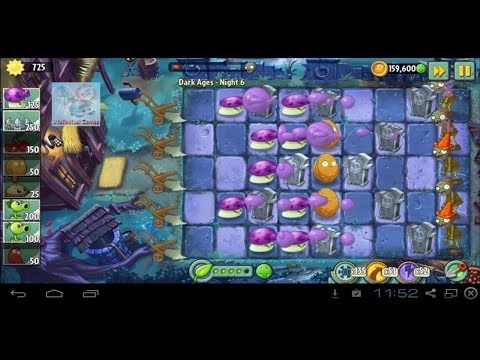 Dark Ages Night 6 Last Stand 1 - Plants vs Zombies 2 update Map 5