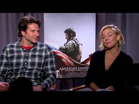American Sniper: Bradley Cooper and Sienna Miller Exclusive Interview Part 1