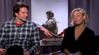 American Sniper: Bradley Cooper and Sienna Miller Exclusive Interview Part 1