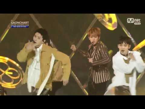 HD720p 170222 EXO 엑소   Intro + Monster + Lotto @ 가온차트 Gaon Chart Music Awards 2016