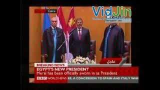 Mohamed Morsi Sworn in as Egypt's President in Cairo Ceremony - 30 June 2012
