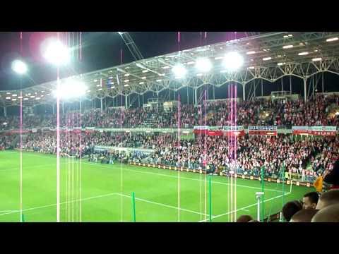 Polska San Marino Kielce cz1 kibice doping Polish Fans