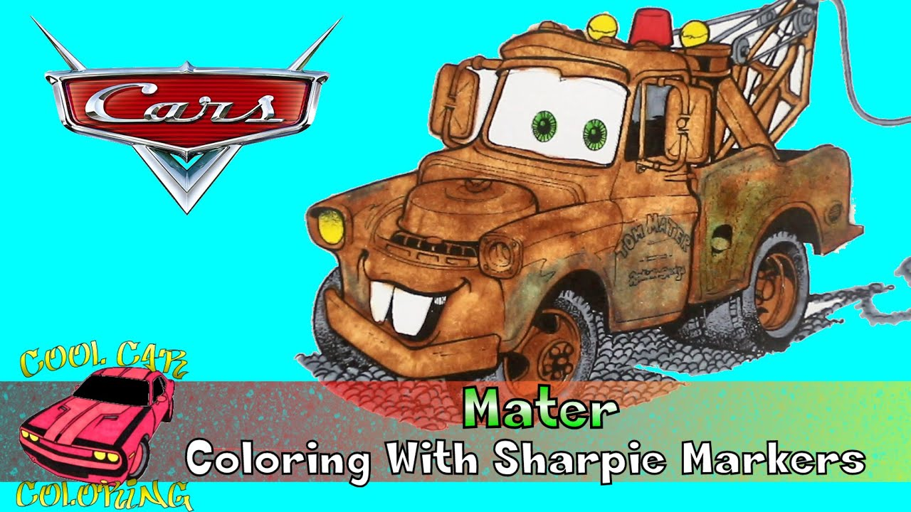 Cars the movie mater drawing