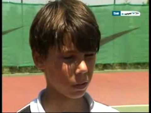 little 12 year old Rafael Nadal