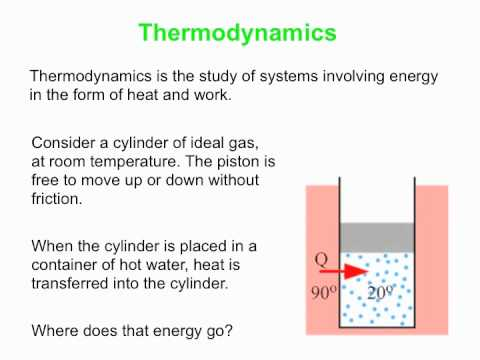 PY105 pre-class video for session 39 - The first law of thermodynamics