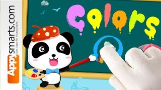 Learn Colors for toddlers with Baby Panda - free educational app Android and iOS