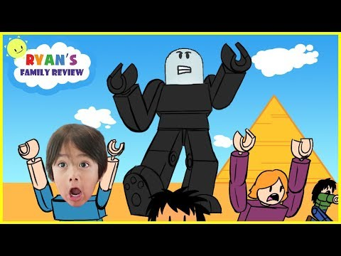 ROBLOX Survive the Giant! Let's Play with Ryan's Family Review!