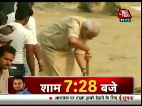 India 360: PM Modi cleans Ganga Ghat in Varanasi
