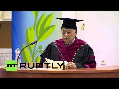 Russia: Abbas speaks at Peoples' Friendship University in Moscow