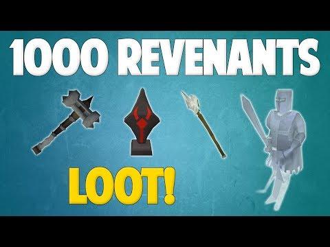Runescape 2018   Loot From 1000 Revenants