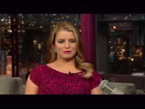 Jessica Simpson - Letterman 3.10.2010-part1