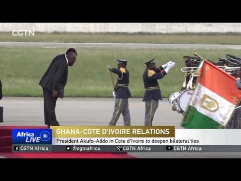 President Akufo-Addo is in Cote d'Ivoire to deepen bilateral ties