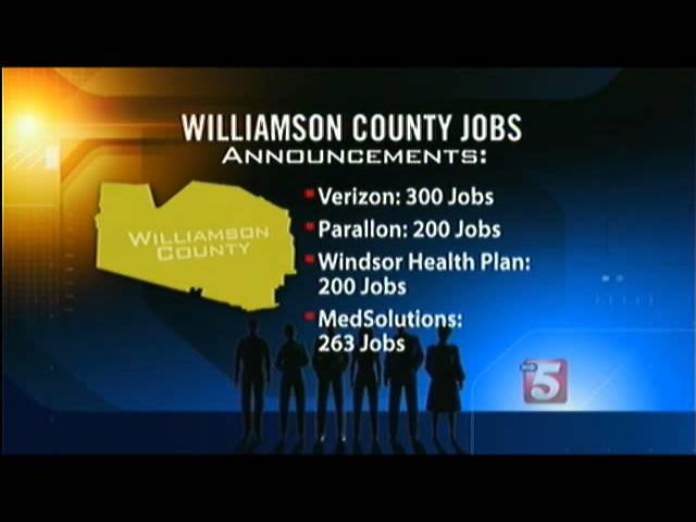 Williamson County Bucking The Trend With New Jobs