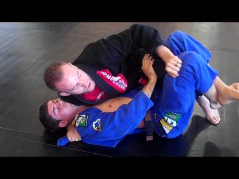 Half Guard Pass Lapel Choke Image 1