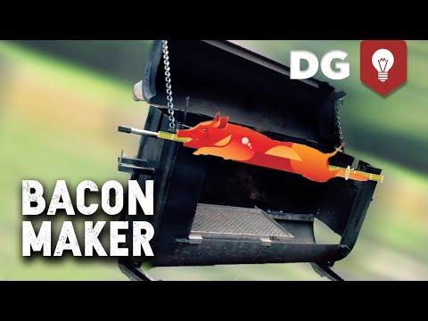 DIY Oil Drum Pig Roaster & How To Skewer