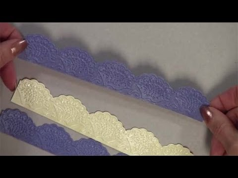 Anna Griffin Lace Trimmings Cuttlebug Border Embossing Folders and Dies Review