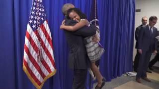 "President Obama meets ""Little Miss Flint"""
